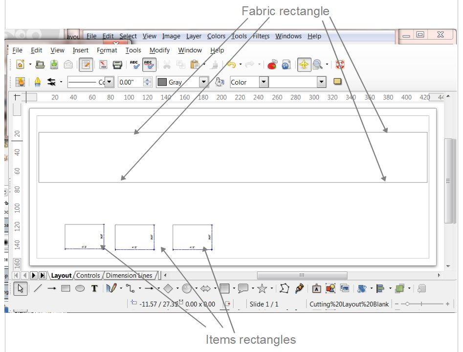 Setting Up LibreOffice To Make Cutting Layouts    Upholstery