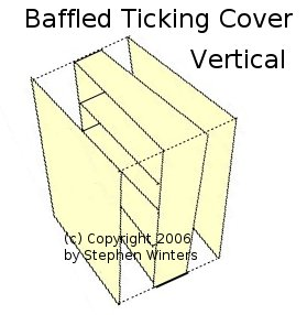 Baffled Ticking cover- verticle